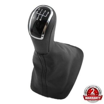 For Skoda Fabia 1 MKI 2000 2001 2002 2003 2004 2005 2006 2007 2008 Car-Styling 5 Speed Car Gear Stick Shift Knob Leather Boot