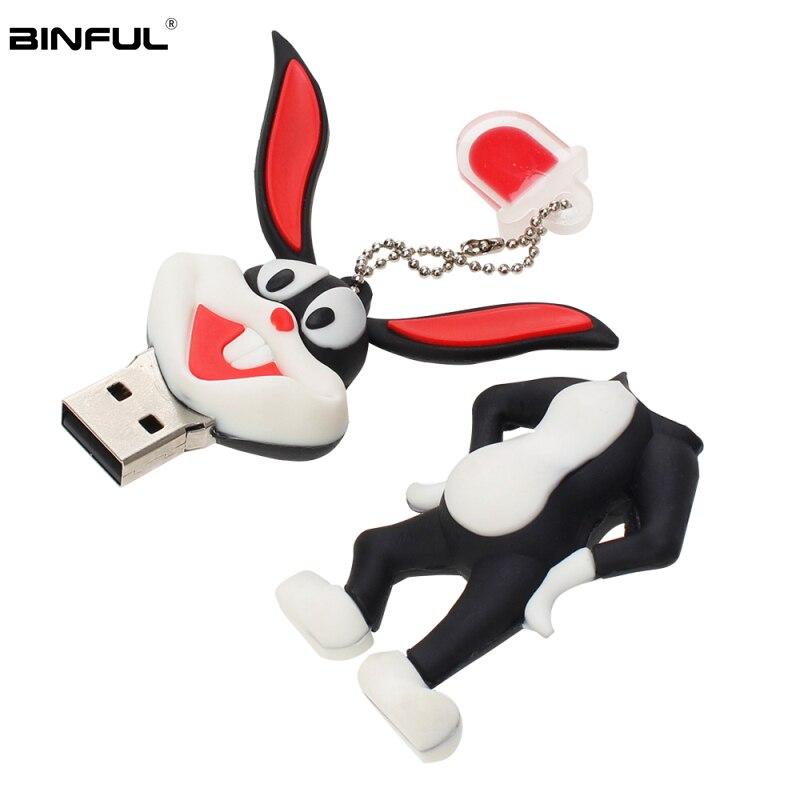 Image 4 - Cartoon Bugs Bunny Usb Flash Drive 32GB Pen Drive 2.0 Animal Flash Memory Card 4GB 8GB 16GB 64GB 128GB Pendrive Cute Flash Drive-in USB Flash Drives from Computer & Office