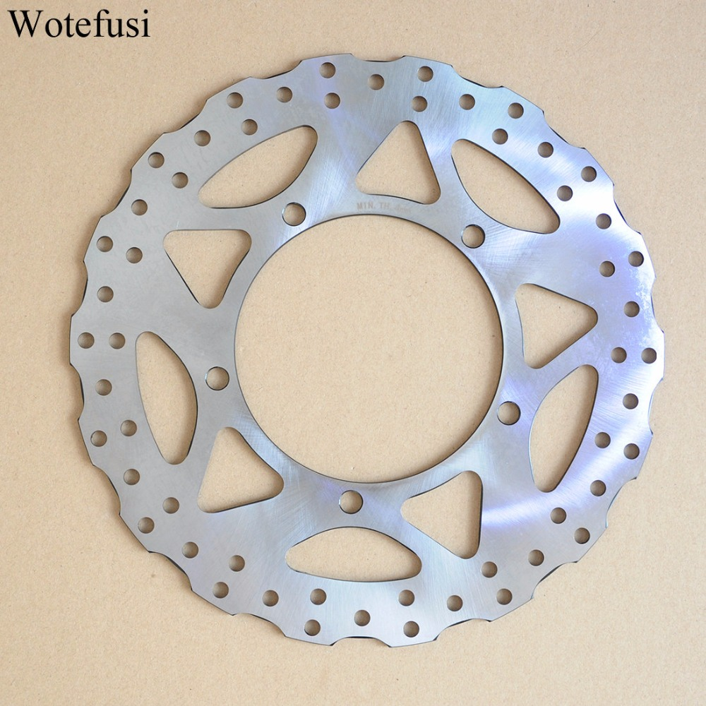 Wotefusi Motorcycle New One Piece Front Brake Rotor Disc  For Kawasaki Ninja250 2013 2014 2015 [PA402]
