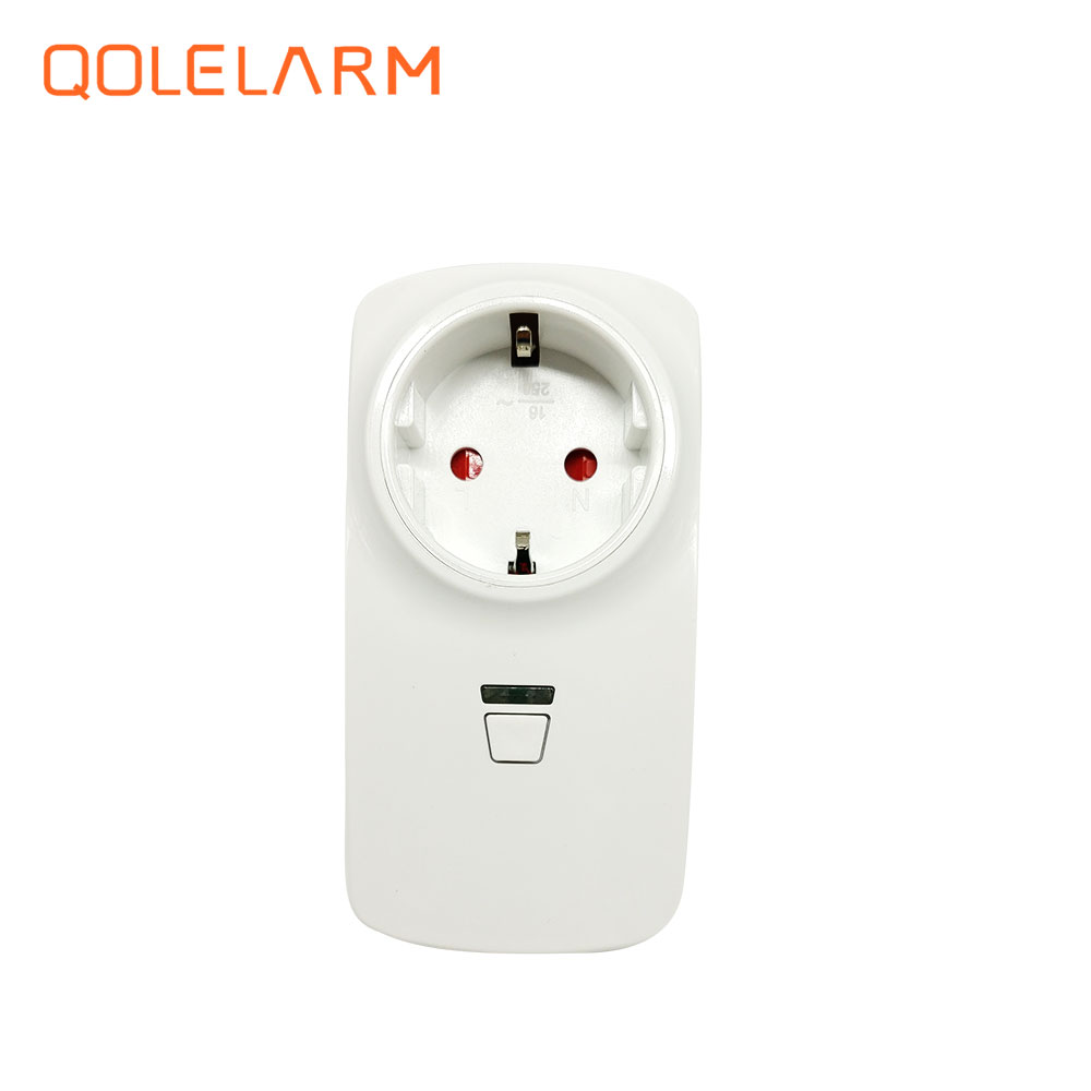 433MHz Wireless home appliance control socket 1CH ON/OFF/AUTO SWITCH model for wifi/gsm pstn alarm system IOS/Android APP wireless remote control power socket smart rf socket control power for home appliance compatible with g90b wifi gsm sms alarm