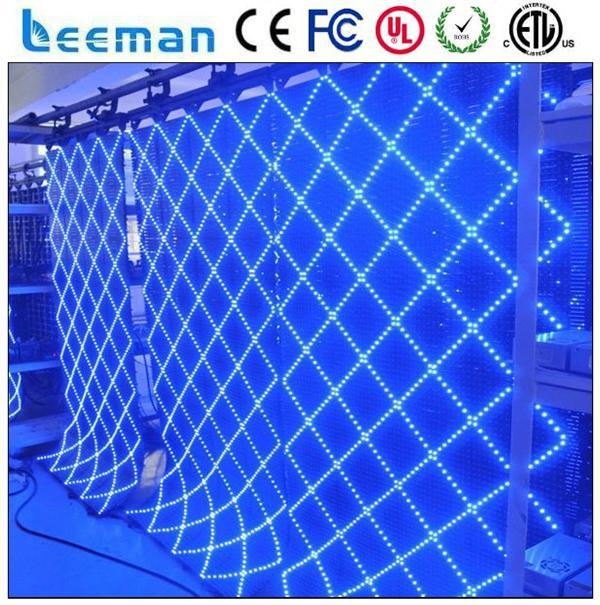 US $238 42 |Leeman Flexible LED Curtain Display/soft video background led  curtain, transparent led curtain display mesh screen panel-in LED Displays