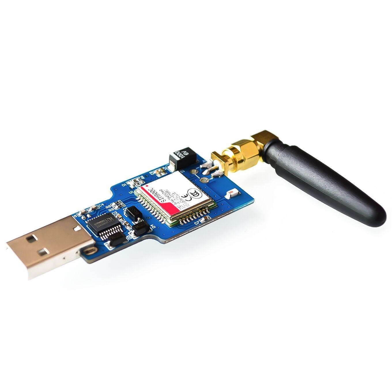 USB a Seriale di GSM GPRS Modulo SIM800C Con Bluetooth Sim900a Del Computer di Controllo di Chiamata Con AntennaUSB a Seriale di GSM GPRS Modulo SIM800C Con Bluetooth Sim900a Del Computer di Controllo di Chiamata Con Antenna