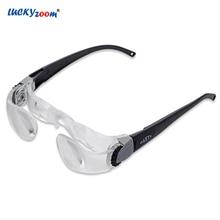 dea6204285445 Luckyzoom Eyewear Óculos Lupa Óculos Com Dioptria 0-3 300 Graus Presbyope  Relógio TV Lupa Lupa Lupa 2.1X