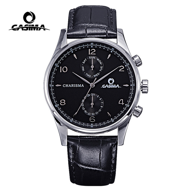 Luxury Brand CASIMA Men Watch montre homme Classic Business Dress Men Quartz Watches reloj hombre Waterproof Watch Men Clock цена