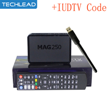 Mag250 TV Box with WIFI USB Adapter +1 Year IUDTV IPTV Account Sweden France IT Albanian UK USA Arabic sports Europe TV code m3u(China)