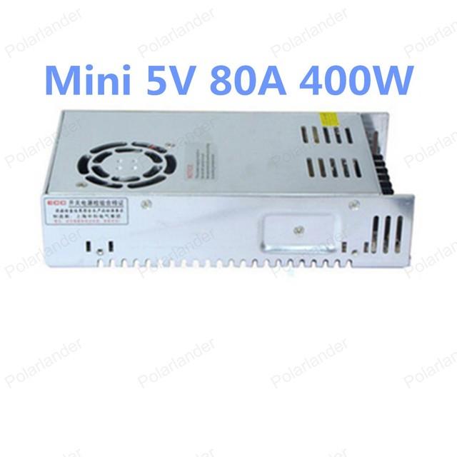 Alta calidad 5 V 80A 400 W de Salida Única de la Conmutación fuente de alimentación para la luz de Tira LLEVADA, envío gratis
