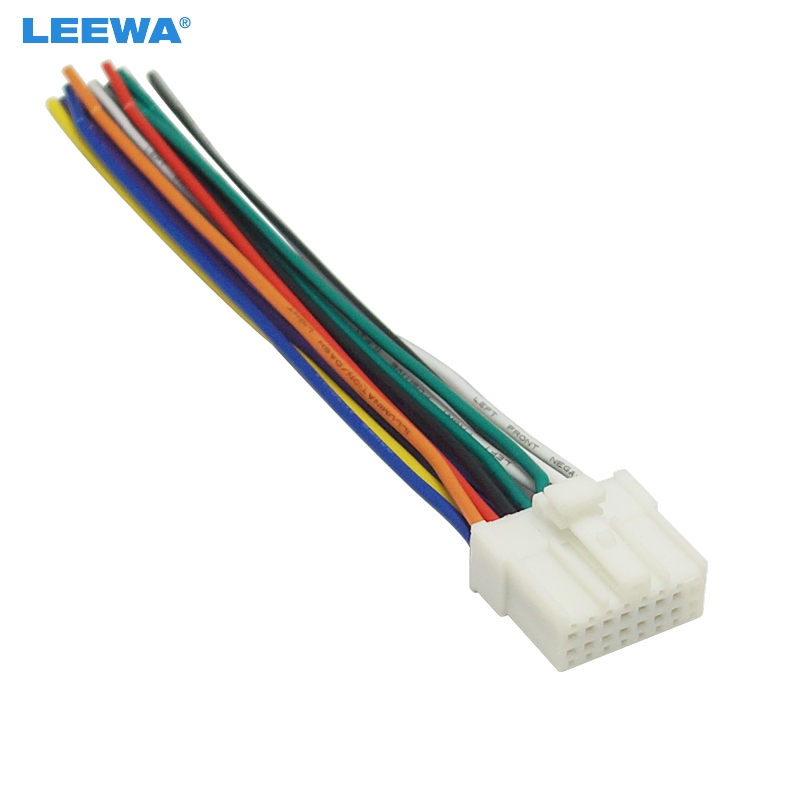 Leewa 10pcs Car Stereo Radio 16pin Wire Harness For Mitsubishi  Lancer  Ford Relevant Installing