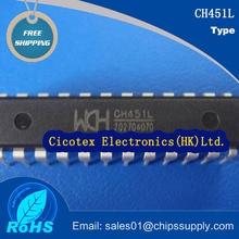 5 шт./лот CH451L DIP24 CH 451 L Цифровой привод и чип с управлением клавиатурой CH451-L