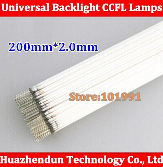 Free shipping 20PCS 200MM length LCD CCFL lamp backlight tube 200MM 2 0mm 200MM length CCFL
