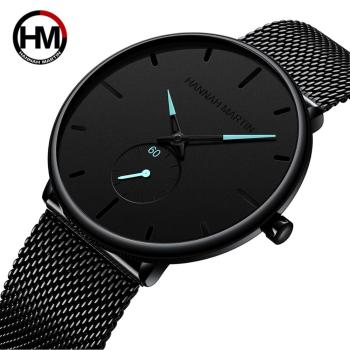 Dropship Fashion Simple Design Waterproof Stainless Steel Mesh Small Dial Men Watches Top Brand luxury Quartz relogio masculino 1