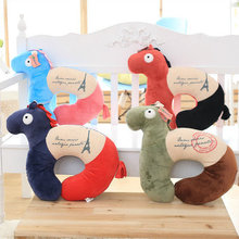 Fashion Pillow Plush U shape Neck Pillow Car Cushion 2in1 New ~ Horse