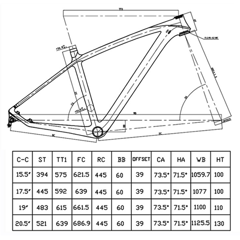 BXT – Cadre de vélo MTB en carbone T800, pièce pour cycle et VTT, 29 et 29 er, dimensions 142x12 ou 135x9 mm, 2020