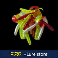 Free shipping 100pcs 8cm big size artificial worm grub fishing lures soft assorted color soft worm grub in fishing lure tackle
