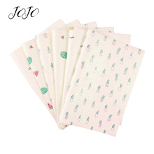 JOJO BOWS 22*30cm Sparkly Glitter Fabric Watermelon Cactus Crown Printed Sheet For The Dress Cloth DIY Hair Bow Party Decoration