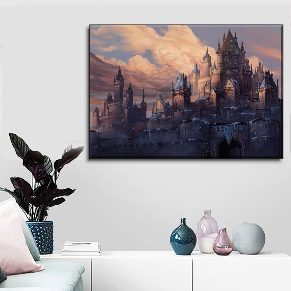 Medieval Canvas Art Palace Lady Painting Poster Living Room Bedroom Home Decor