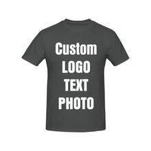 Индивидуальная Мужская футболка с круглым вырезом и коротким