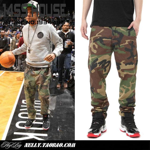 0d3c97e324 brand Jay-z bape camo slim fit sweatpants for men Camouflage casual  trousers skate men army fatigue cargo pants camo