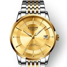 KASSAW Genuine Watch Mens Automatic Mechanical Gold Classic Ultra-thin Steel Waterproof Luminous