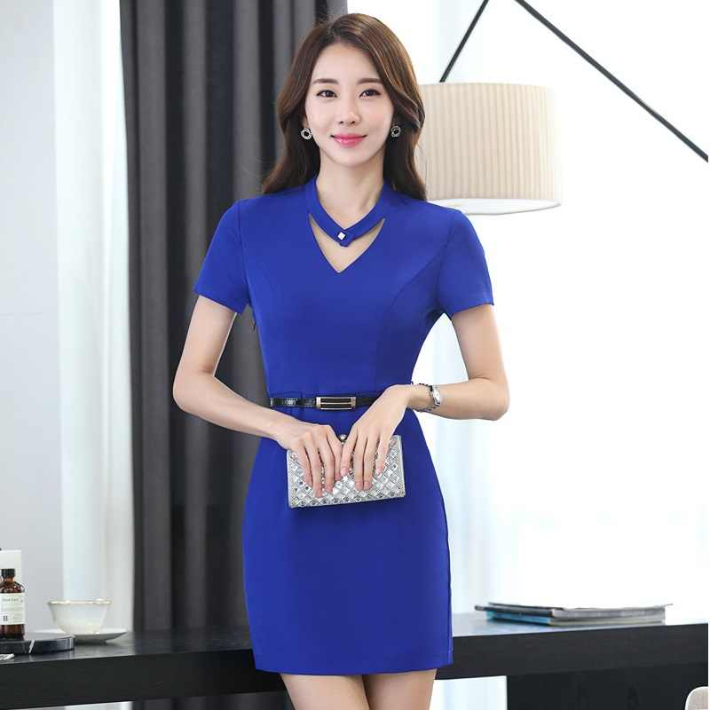 330f29860df Новые модные летние шорты рукавом строгие женские платья женские офисные  повседневная обувь платье повседневное Vestidos Femininos