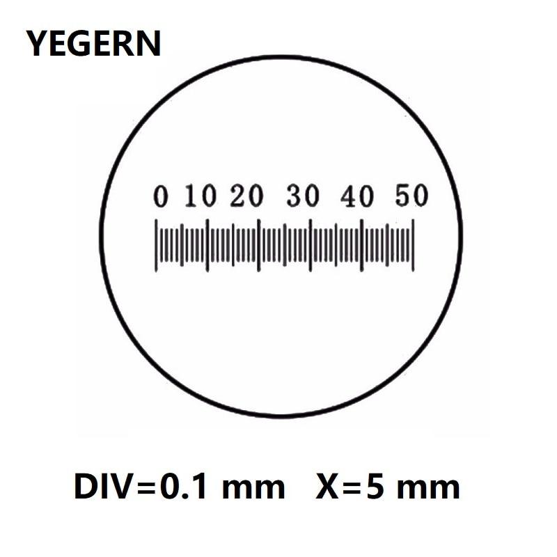 Eyepiece Micrometer For Biological Microscope Ocular Graticule Measuring Glass Scales Ruler DIV 0.1mm Diameter 19mm CAT903 C3