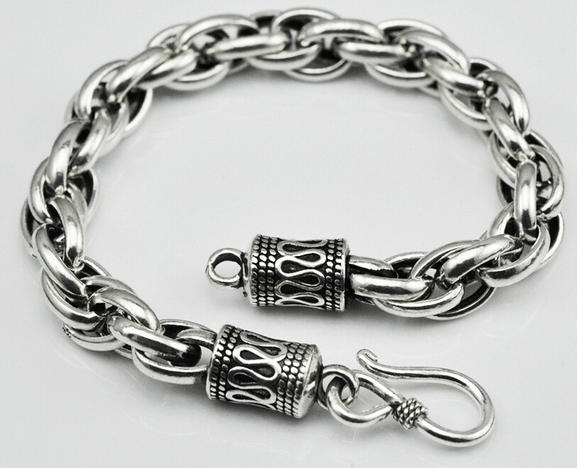 Thai silver jewelry 925 silver bracelet original handmade vintage men and women Chain & Link bracelets