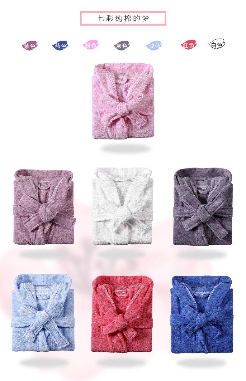 Peignoir bébé pur coton doux respirant absorption d'eau confortable à capuche doux Terry absorbant nuit robe de chambre pijamas - 4