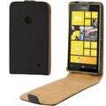 Высокого Качества для Мужчин, Стиль Флип Кожаные Чехлы для Nokia Lumia 520 С Магнитной Кнопкой Черный Чехол Обложка
