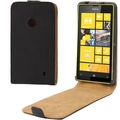 High Quality Men Style Flip Leather Cases for Nokia Lumia 520 With Magnetic Button Black Pouch Case Cover