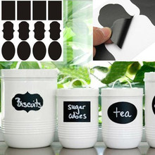 Free shipping 3 Designs 24pcs/lot Vinyl Chalkboard Label Stickers,Modern kitchen Organizing Chalkboard Stickers Decor(China)
