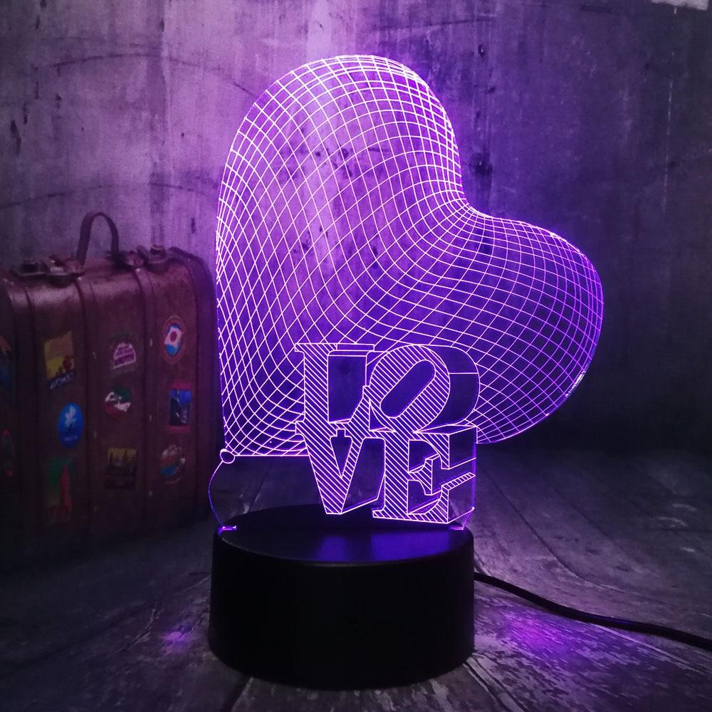 New 2019 Christmas 3D Love Heart LED Night Light Romantic Atmosphere Desk Lamp Wedding Decoration Lovers Couple Sweetheart GiftNew 2019 Christmas 3D Love Heart LED Night Light Romantic Atmosphere Desk Lamp Wedding Decoration Lovers Couple Sweetheart Gift