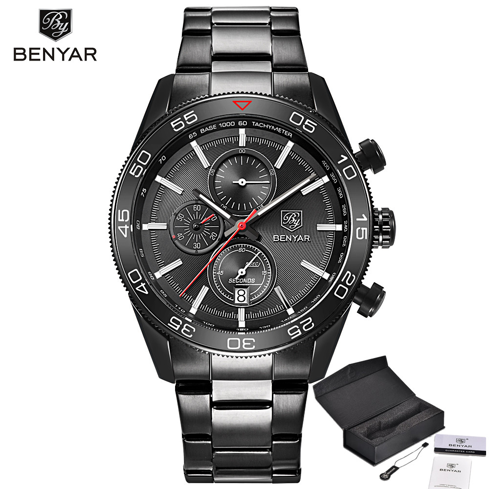 2017 Men Watches BENYAR Luxury Brand Fashion Watch Reloj Hombre Waterproof Military Army Sport Quartz Watch Relogio Masculino luxury brand casima men watch reloj hombre military sport quartz wristwatch waterproof watches men reloj hombre relogio