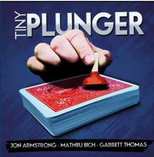 Tiny Plunger (DVD+GIMMICK) Magic Tricks Magician Close Up Illusions Props Mentalism Unsuspecting Little Magia Prop
