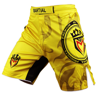 Men S Mixed Martial Arts MMA Shorts Fitness Combat Training Shorts Breathable Wear Cost Effective Free