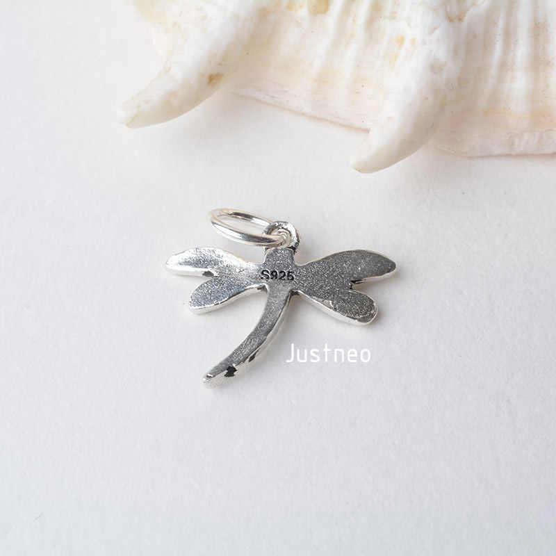 Solidna 925 srebro wisiorek ważka urok, tajska srebrna podkładka dystansowa koralik charms dla naszyjnik i wisiorek srebro biżuteria