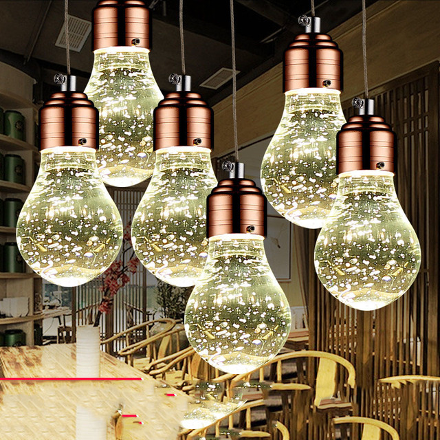 Cristal Led lámpara De cocina moderna Lamparas De Techo De ...