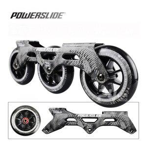 Image 2 - 100% מקורי Powerslide מהירות סקייט מסגרת 3*110mm 255mm עם 110mm Powerslide החלקה גלגלים עבור 165mm מרחק Patines בסיס