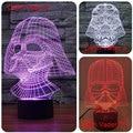 Creativo toque de oscurecimiento Lamparas Led 3D Darth Vader de Star Wars 7 Cambio de Color RGB Luz de La Noche de La Lámpara de Escritorio LED USB Lámpara de Lava