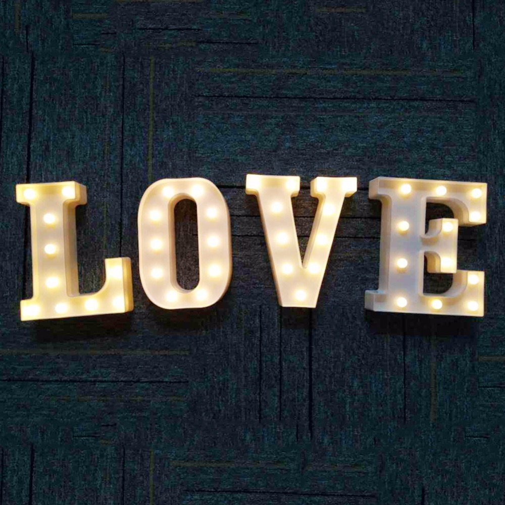 Led Lamps Hearty Foxanon Led Table Lamp A-z Letters White Led Night Light Marquee Sign Alphabet Lamp For Birthday Wedding Party Bed Lamp Decor