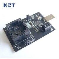 EMMC100 Socket BGA100 Test Android Phone Nand Flash EMMC Reader Programmer Socket Adapter USB Interface To