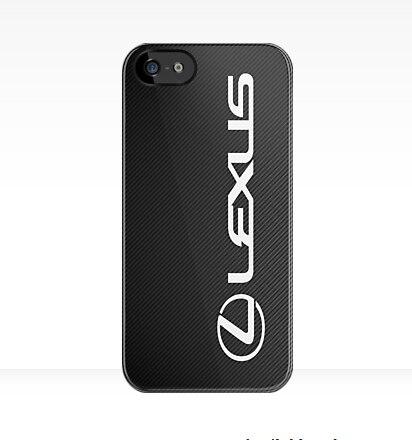quality design a5833 55987 Faux Carbon Lexus Logo Case For iPhone