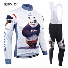BXIO Winter Thermal Fleece Cycling Sets Warm Long Sleeve Pro Team Bike Clothing Ropa Ciclismo Invierno MTB Bicycle Clothes 081