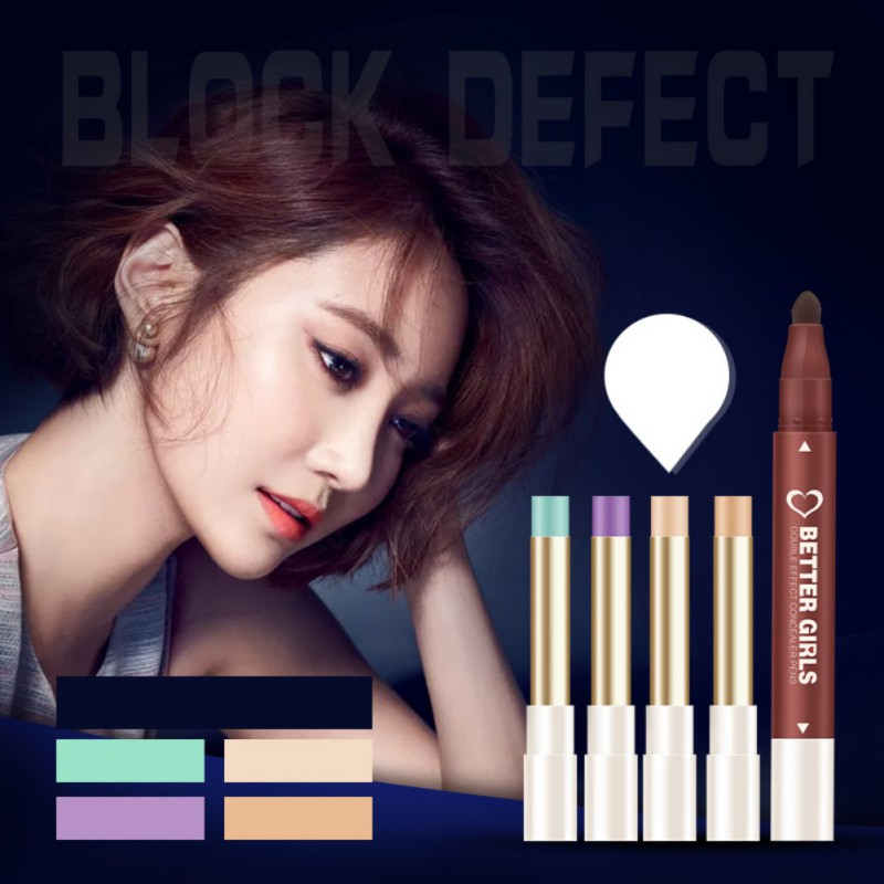 Facial Care Face Makeup Cosmetic Concealer Pen Pencil Color Stick For Dark Circle Spot Acnepaleta