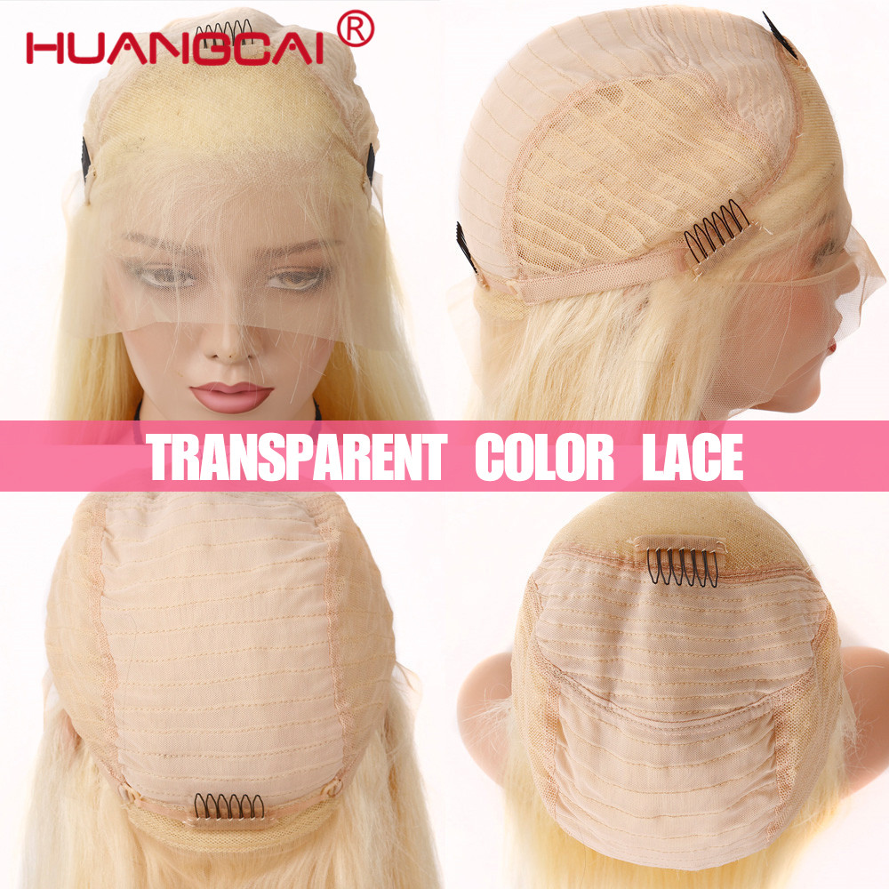 Glueless #613 Blonde Lace Front Human Hair Wigs Brazilian Straight Lace Front Wig Pre Plucked Honey Blonde Remy 13*4 Lace Wigs