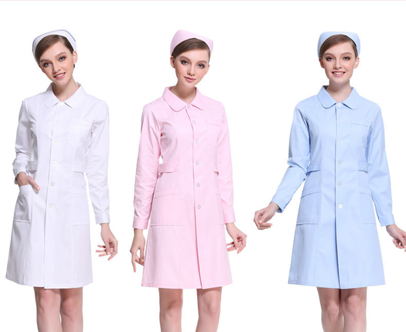 Medical Uniforms Hospital Medical Scrub Clothes Long Sleeves For Women Doctors Under Lab Coat Medical BLOUSE White Coat