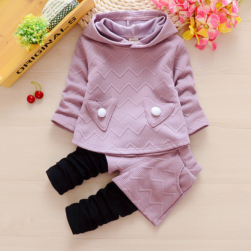 <font><b>Newborn</b></font> <font><b>baby</b></font> <font><b>girls</b></font> spring <font><b>autumn</b></font> clothing sets toddler hoodies+pants 2pcs sports suits for bebe <font><b>girls</b></font> infant casual <font><b>clothes</b></font> sets image