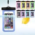 10 pçs/lote venda quente transparente à prova de água underwater bolsa dry bag caso capa para iphone 7 telefone celular touchscreen telefone móvel