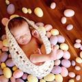 Mais novo bebê Recém-nascido Bonito Do Bebê Saco de Dormir Cobertores de Malha Crochet Costume Foto Fotografia Prop Outfit Branco