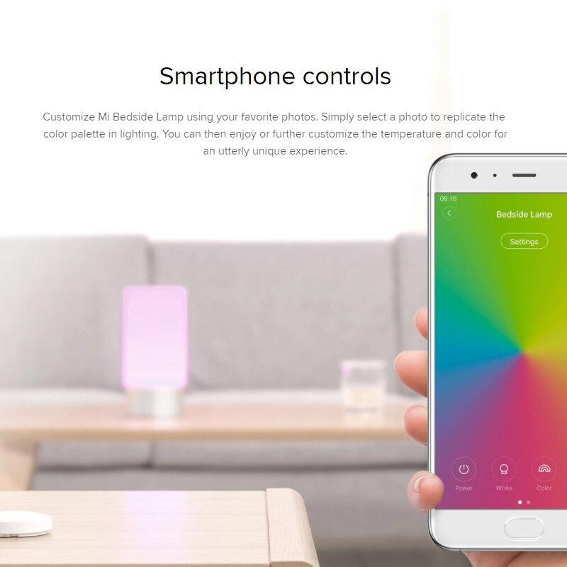 Xiaomi Mijia Yeelight LED lámpara de noche Escritorio de mesa luz interior inteligente 16 millones de Control táctil remoto Bluetooth Wifi luz de noche - 5