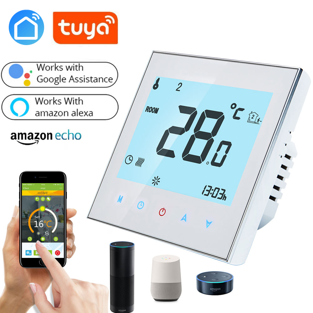 Google Home APP Wireless Room Thermostat Wall-hung Gas Boiler Heating Controller Weekly Programmable Remote Control Temperature