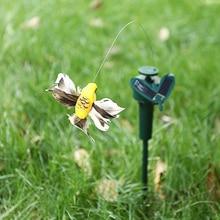 Funny Solar Toys Solar Powered Flying Fluttering Hummingbird Powered Birds Butterflies for Garden Decoration Colorful Yard Decor